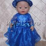 Нарядное платье для куклы из гипюра