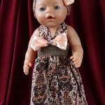 Сарафан для куклы с резинкой